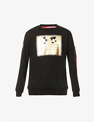 ALPHA INDUSTRIES: Lunar cotton-blend sweatshirt