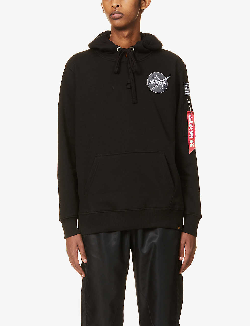 ALPHA INDUSTRIES: Space Shuttle crewneck cotton-blend jersey hoody