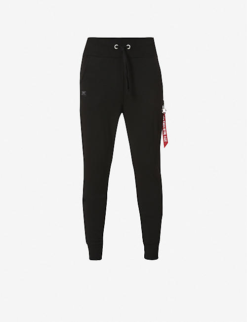 ALPHA INDUSTRIES: Cargo cotton-blend jogging bottoms