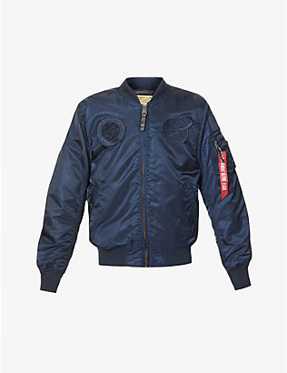 ALPHA INDUSTRIES: Ma-1 Vf Nasa logo-embroidered shell bomber jacket