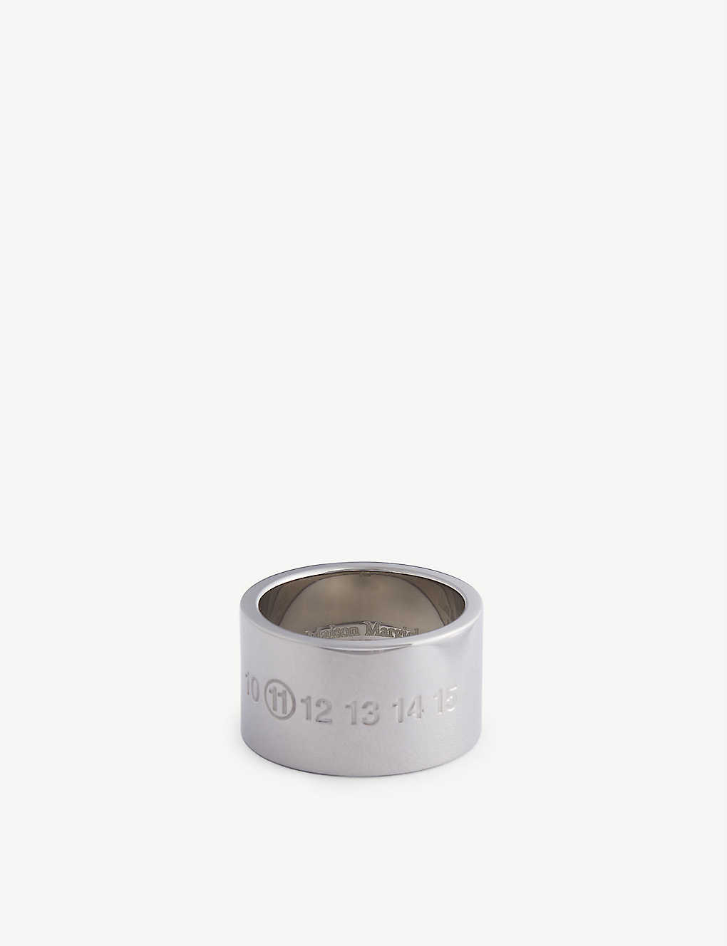 MAISON MARGIELA: Embossed silver band ring