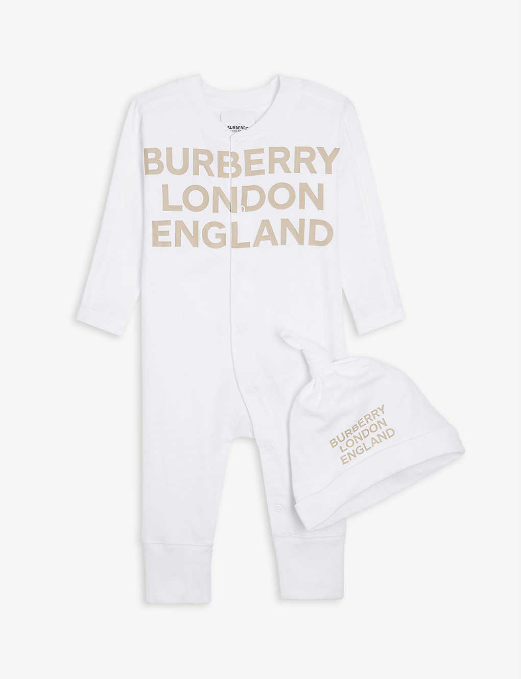 BURBERRY: Cleo cotton baby set 1-6 months