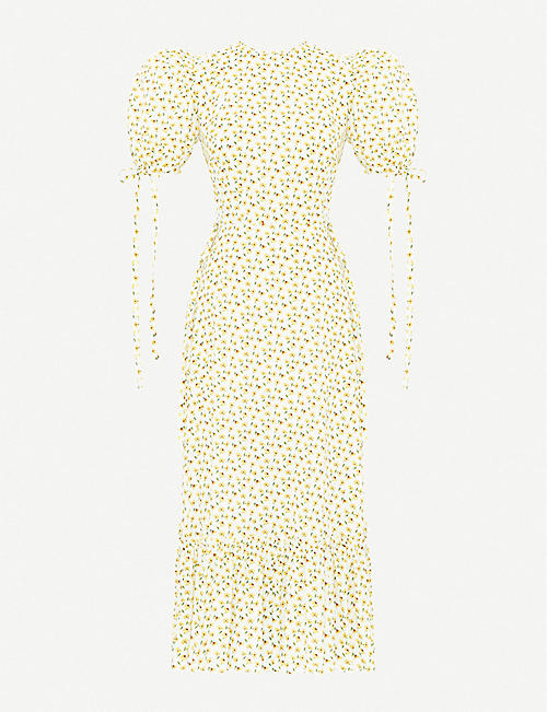 THE VAMPIRE'S WIFE: The Honey Trap floral-print cotton midi dress
