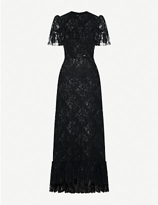 THE VAMPIRE'S WIFE: The Bombette metallic-lace maxi dress