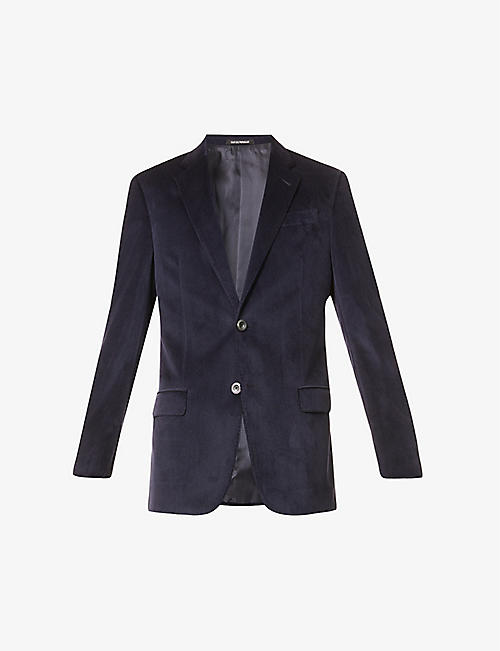 EMPORIO ARMANI: G-line single-breasted velvet-twill blazer