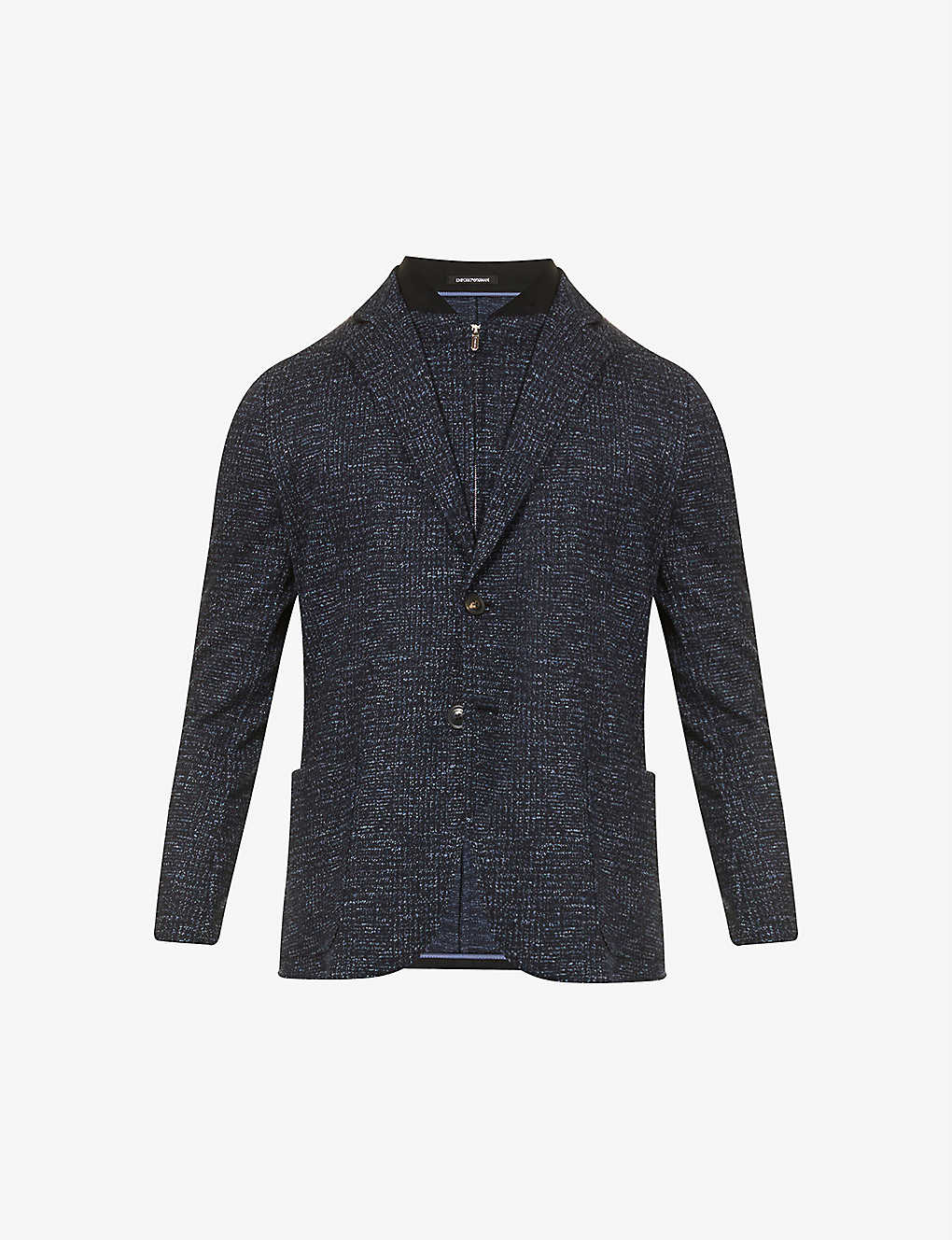 EMPORIO ARMANI: Single-breasted wool and cotton-blend jacket