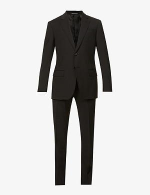 EMPORIO ARMANI Slim-fit two-piece wool suit