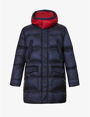 EMPORIO ARMANI: Padded shell-down coat