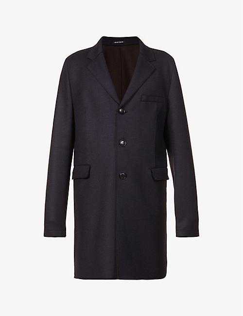 EMPORIO ARMANI: Notched single-breasted wool-blend coat