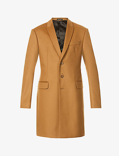 EMPORIO ARMANI: Single-breasted wool and cashmere-blend coat