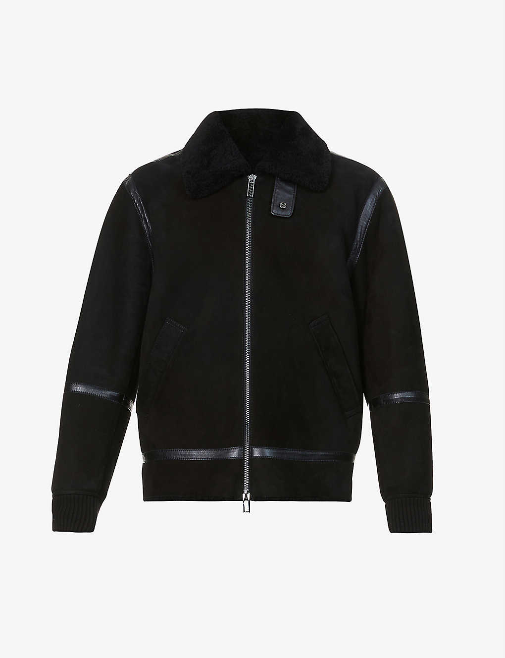 EMPORIO ARMANI: Shearling and suede jacket