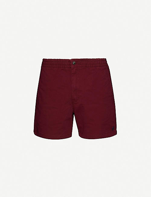 POLO RALPH LAUREN: Logo-embroidered cotton shorts