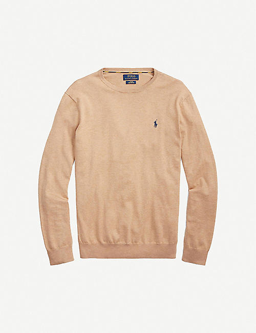 POLO RALPH LAUREN: Pony-embroidered cotton-knit jumper