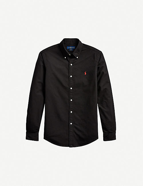 POLO RALPH LAUREN: Pony-embroidered slim-fit cotton Oxford shirt
