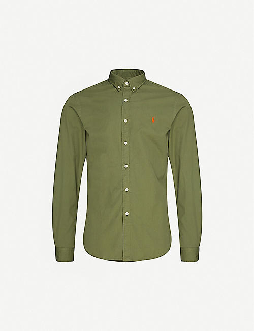 POLO RALPH LAUREN: Logo-embroidered cotton shirt