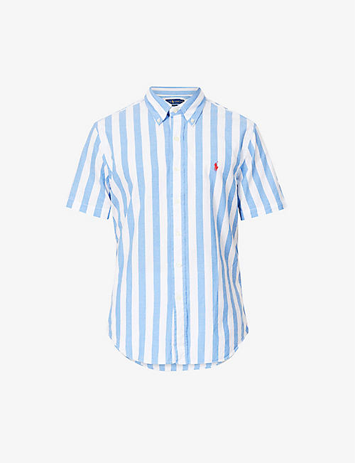 POLO RALPH LAUREN: Beach striped cotton shirt