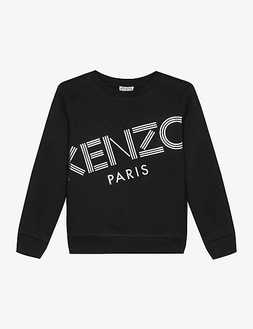 KENZO: Logo-print cotton sweatshirt 4-14 years