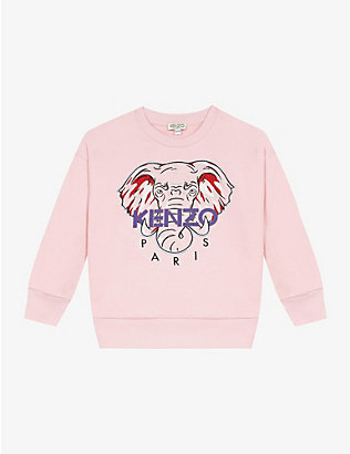 KENZO: Elephant cotton sweatshirt 4-14 years