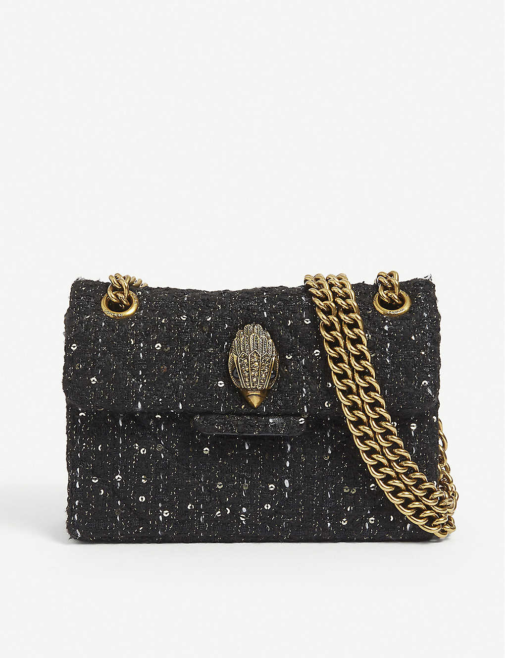 KURT GEIGER LONDON: Kensington mini tweed shoulder bag