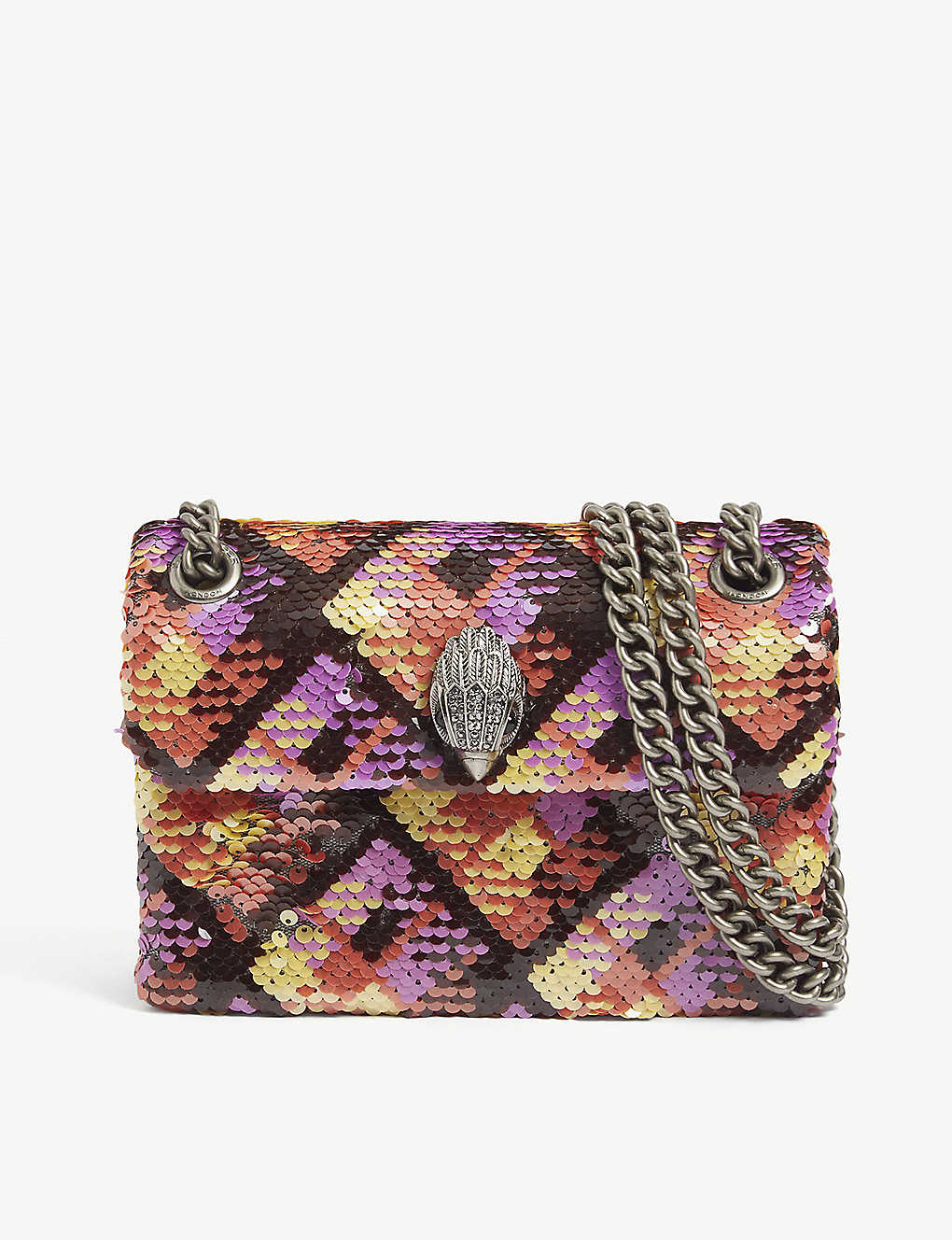 KURT GEIGER LONDON: Kensington sequin check shoulder bag