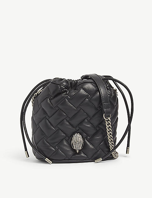 KURT GEIGER LONDON: Kensington leather bucket bag