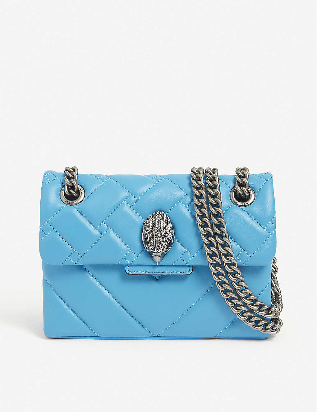 KURT GEIGER LONDON: Mini Kensington leather shoulder bag