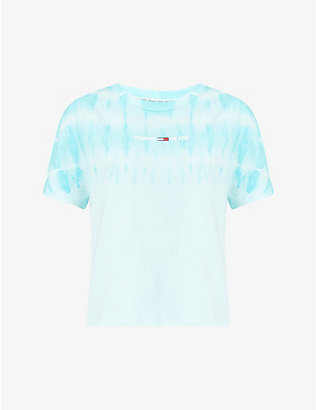 TOMMY JEANS: Tie-dye cotton-jersey T-shirt