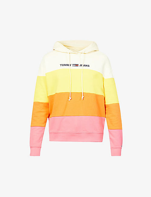 TOMMY JEANS: Colour-block cotton-jersey hoody