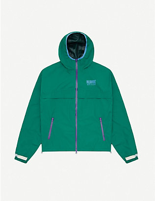 BILLIONAIRE BOYS CLUB: Logo-print shell hooded jacket