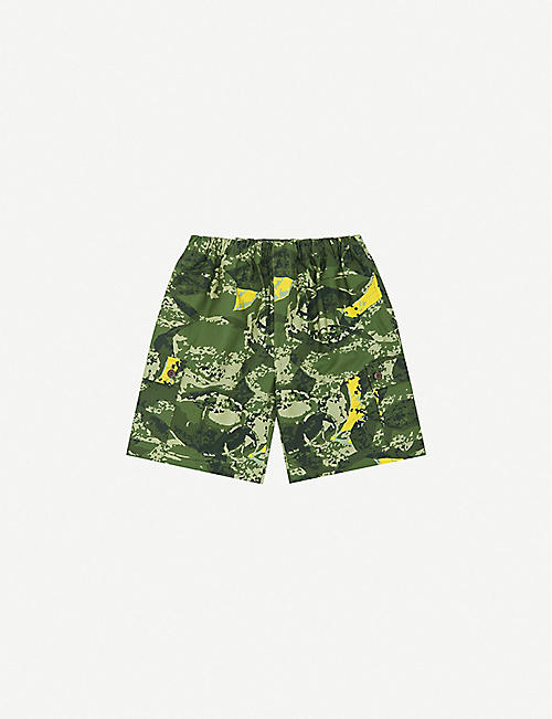 BILLIONAIRE BOYS CLUB: Camouflage-print cotton cargo shorts