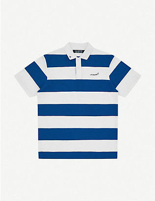 BILLIONAIRE BOYS CLUB: Striped cotton polo shirt