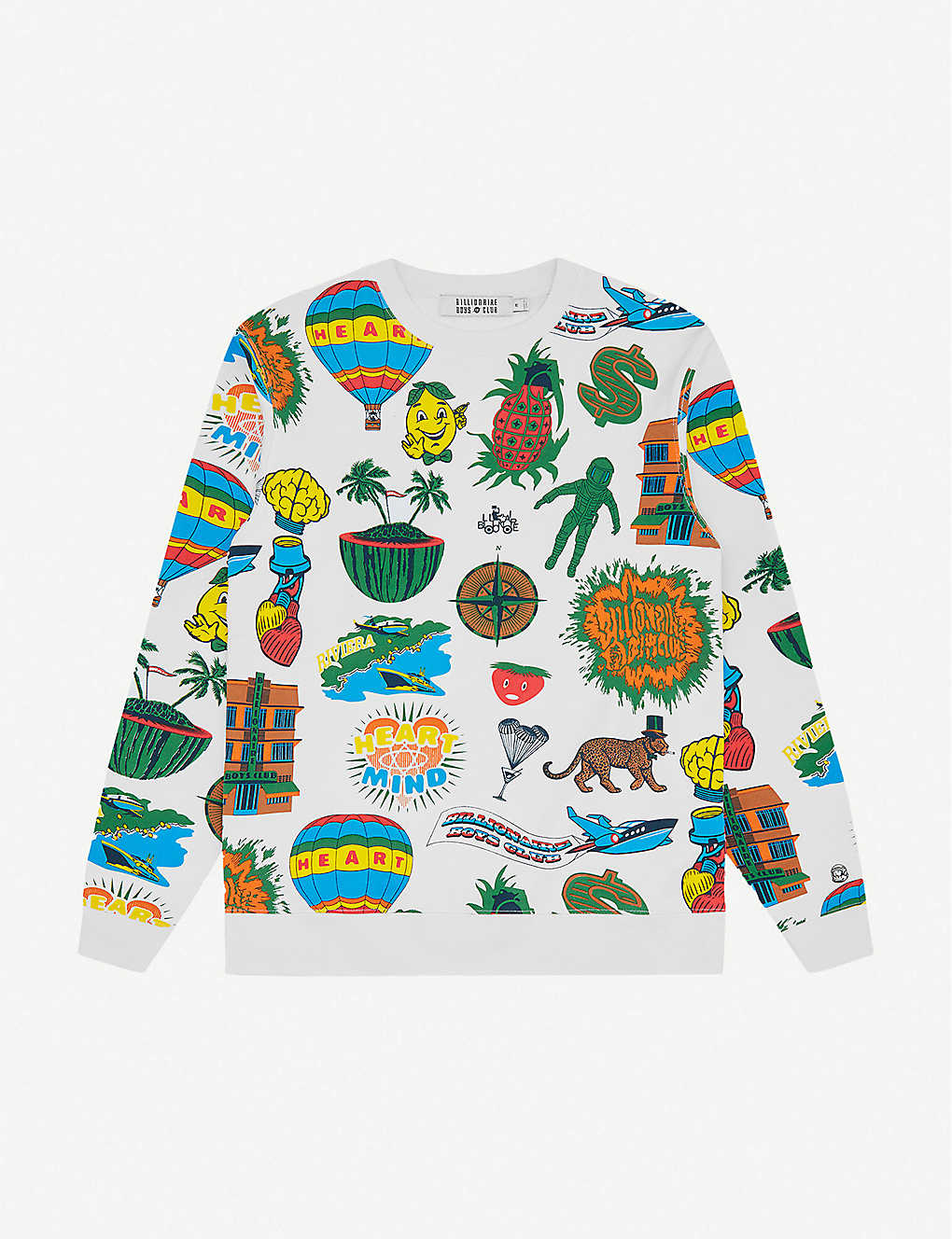 BILLIONAIRE BOYS CLUB: Graphic-print cotton sweatshirt