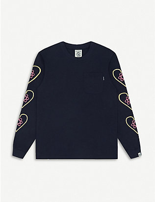 BILLIONAIRE BOYS CLUB: Heart & Mind logo-print cotton sweatshirt