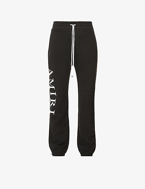 AMIRI: Brand-patch cotton-jersey jogging bottoms
