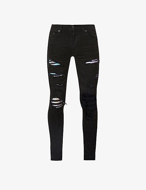 AMIRI: Hawaiian Patch skinny jeans