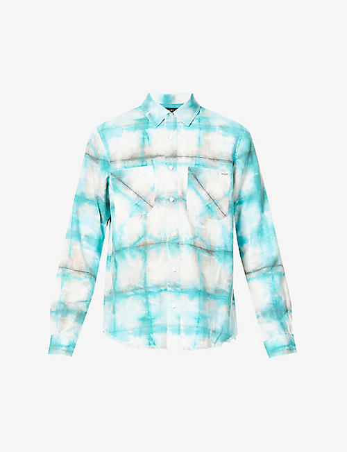 AMIRI: Watercolour tie-dye cotton shirt