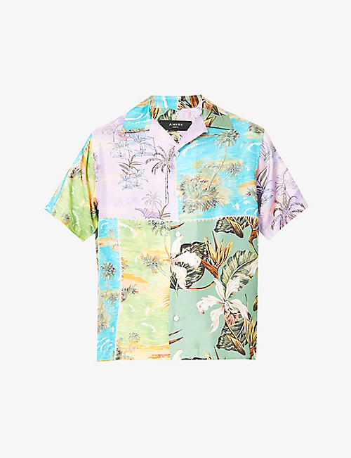 AMIRI: Hawaiian graphic-print silk shirt