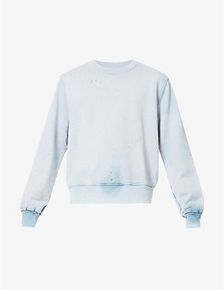 AMIRI: Washed cotton-jersey sweatshirt