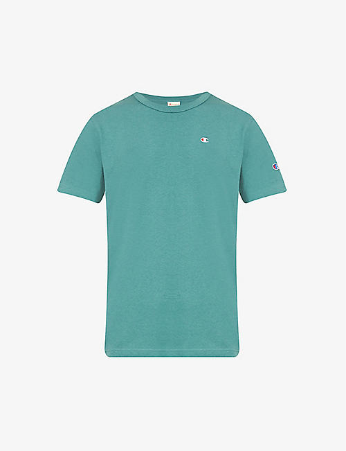 CHAMPION: Brand-embroidery cotton-jersey T-shirt