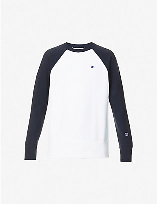 CHAMPION: Logo-embroidered cotton-blend sweatshirt