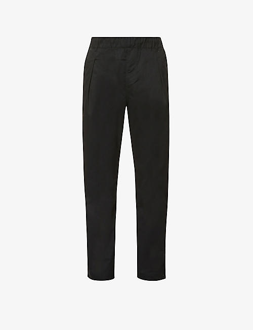 CHAMPION: Brand-embroidered straight woven trousers