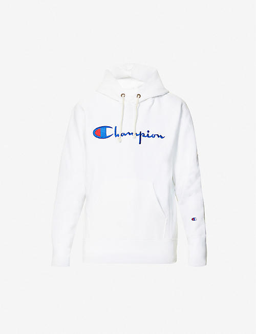 CHAMPION: Logo-embroidered cotton-blend hoody
