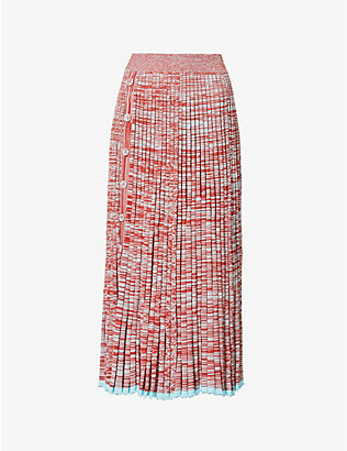 CHRISTOPHER ESBER: Pleated knitted maxi skirt