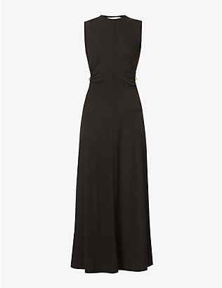 CHRISTOPHER ESBER: Orbit Fran cut-out stretch-knitted maxi dress
