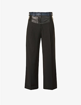CHRISTOPHER ESBER: Maverick straight-leg mid-rise wool-blend trousers