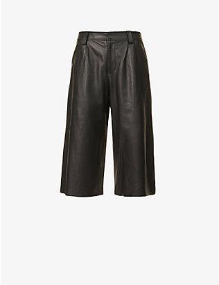 CHRISTOPHER ESBER: Charli straight-leg high-rise leather shorts