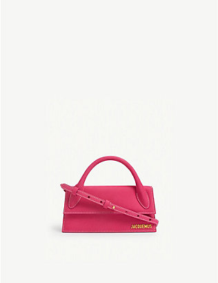 JACQUEMUS: Le Chiquito Long leather top handle bag