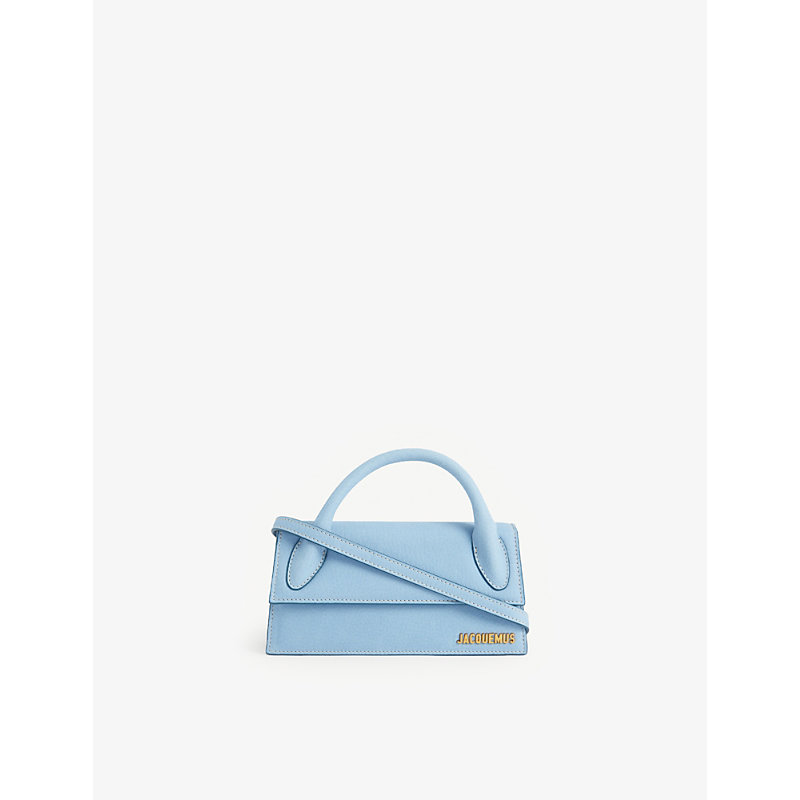 Jacquemus Leathers LE CHIQUITO LONG SUEDE TOP HANDLE BAG