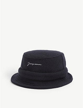 JACQUEMUS: Le Bob logo-embroidered wool bucket hat