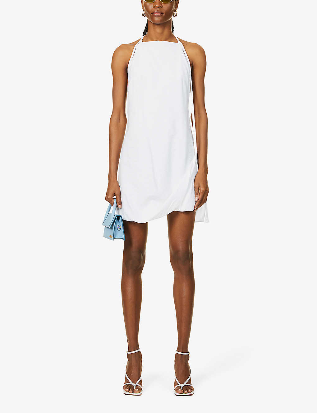 JACQUEMUS: La Robe Figuerolles woven mini dress